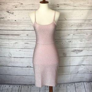 Sparkly Pink Strappy Mini Dress Size Small